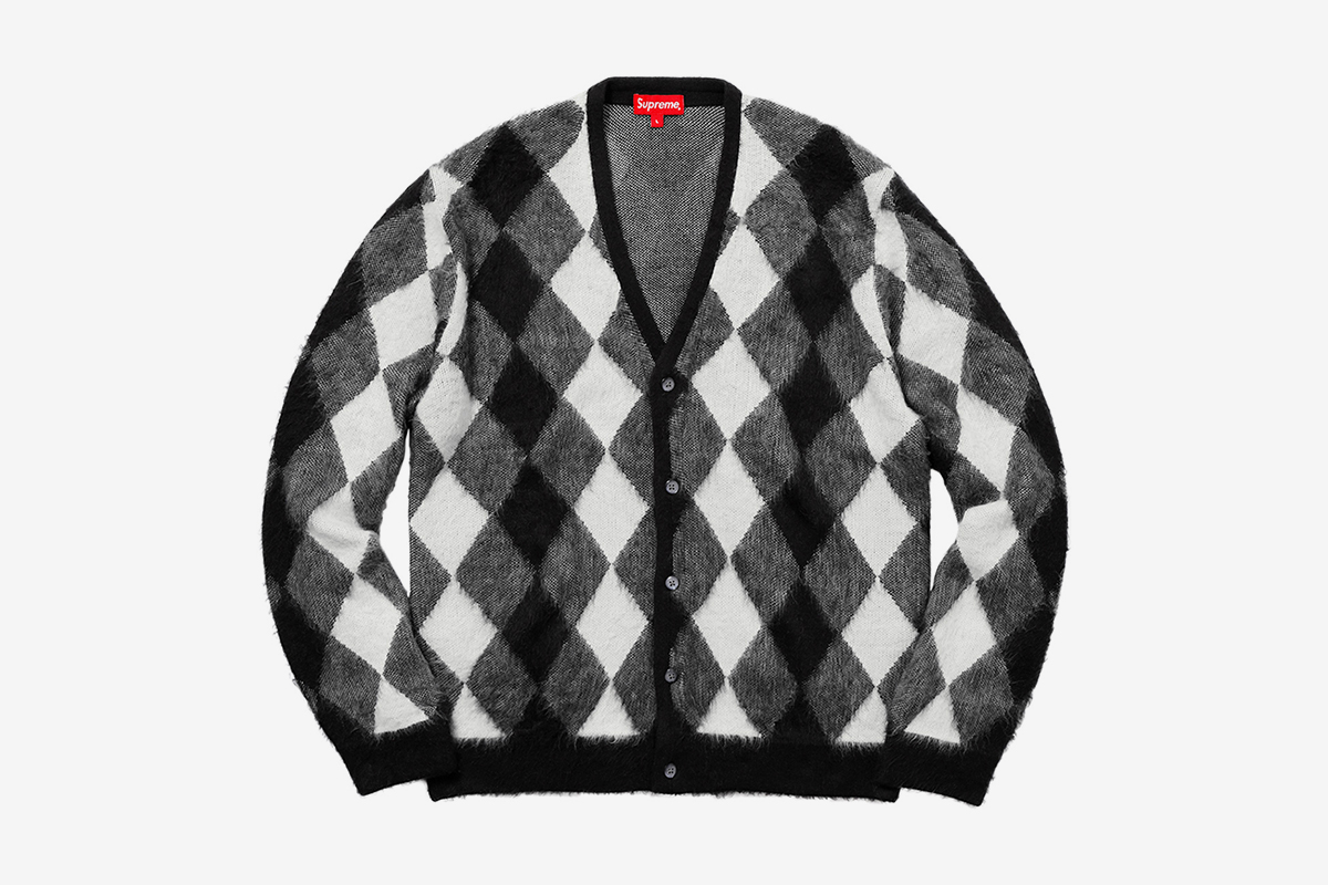 Brushed Argyle Cardigan