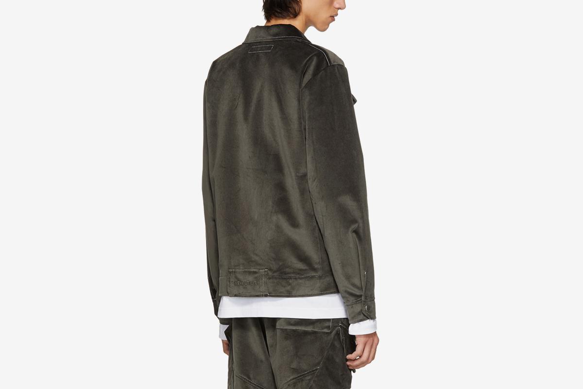 Velvet Zip Service Jacket