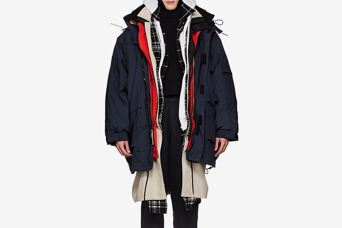 Layered Oversized Parka