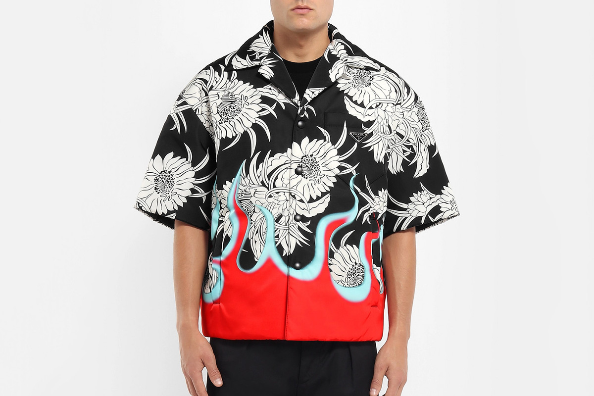 Floral & Flames Padded Shirt