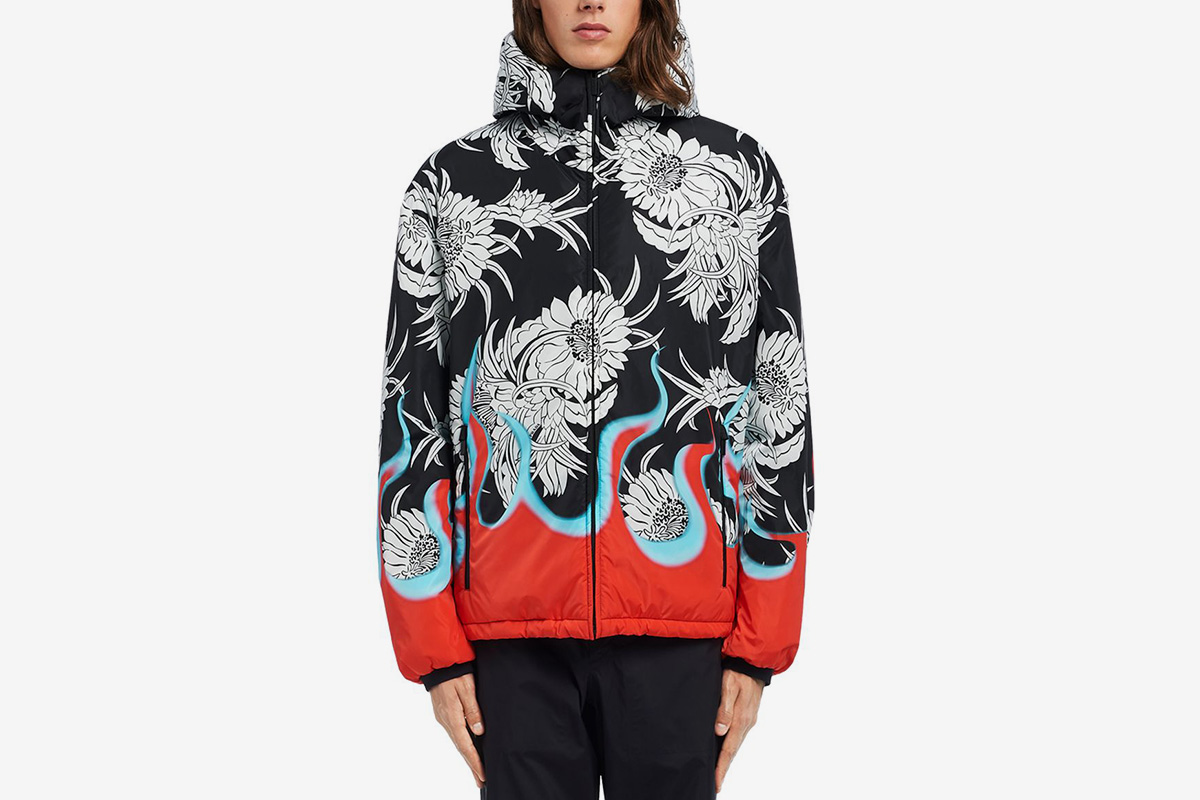 Floral & Flames Padded Jacket