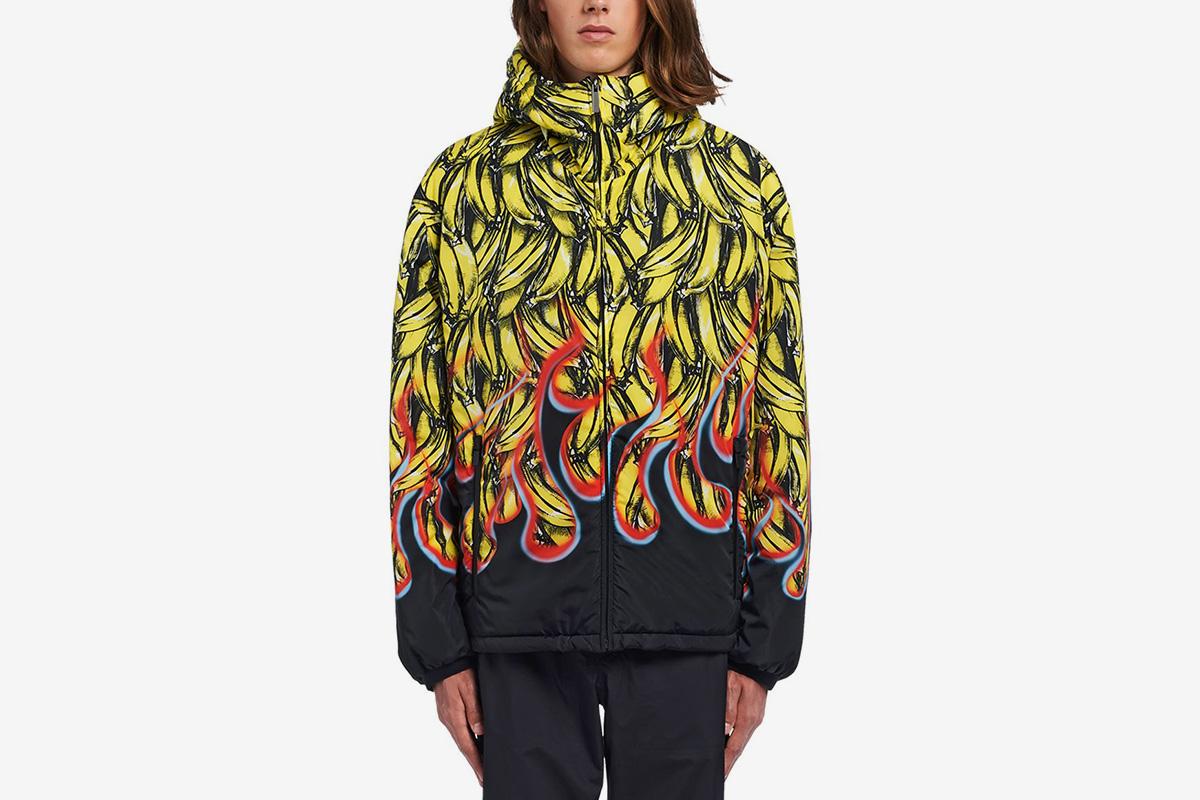 Bananas & Flames Padded Jacket