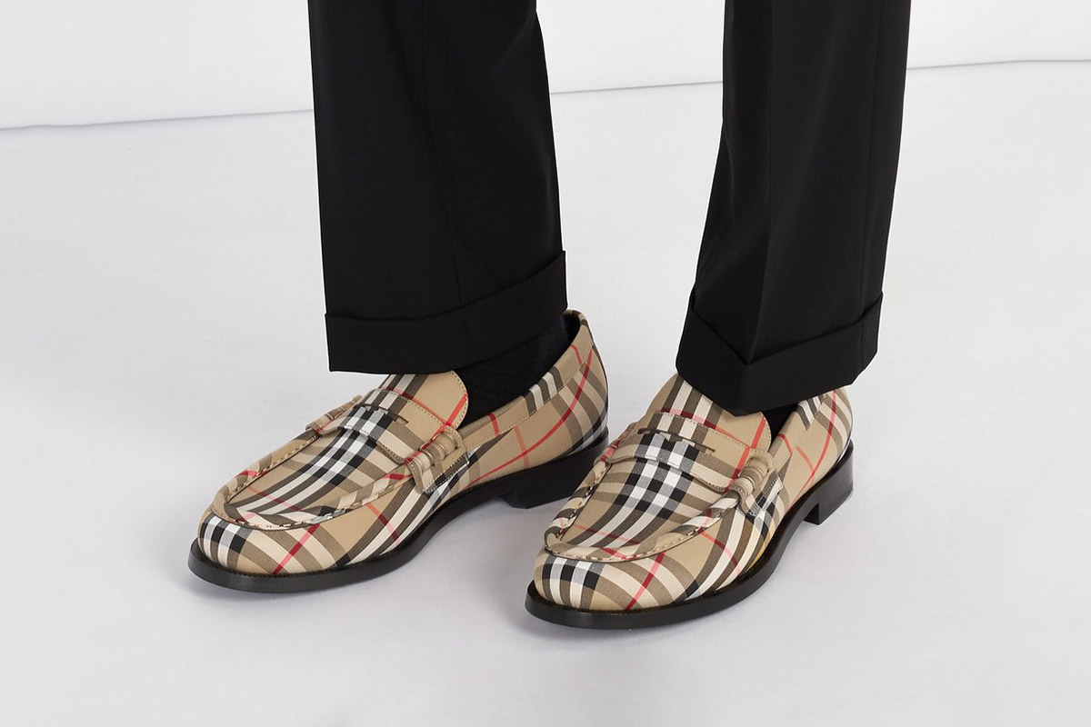 House Check Loafers