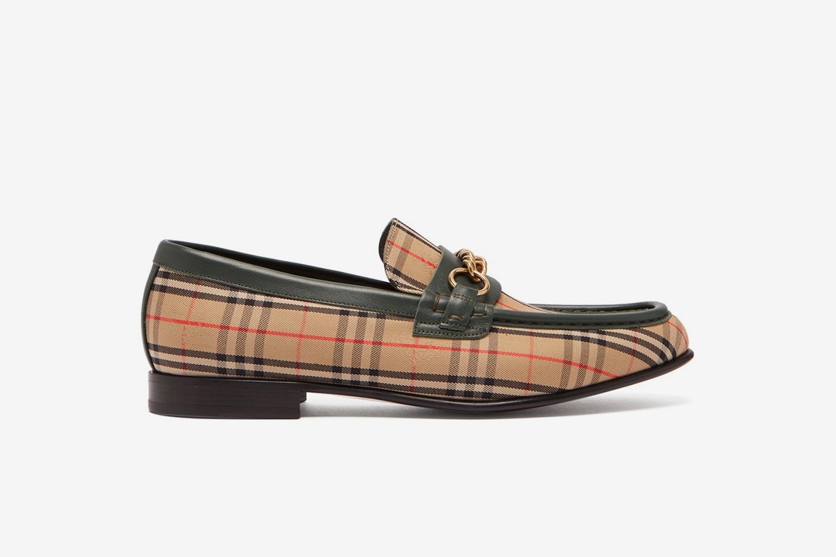 Moorely Dalston Vintage Check Canvas Loafers