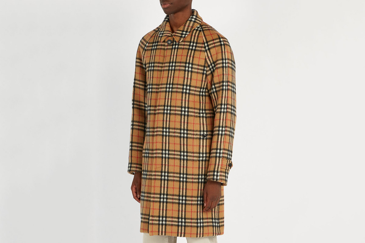 Vintage Check Alpaca Coat