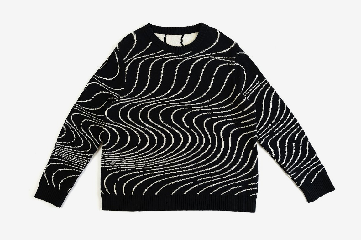 Waves Jacquard Sweater