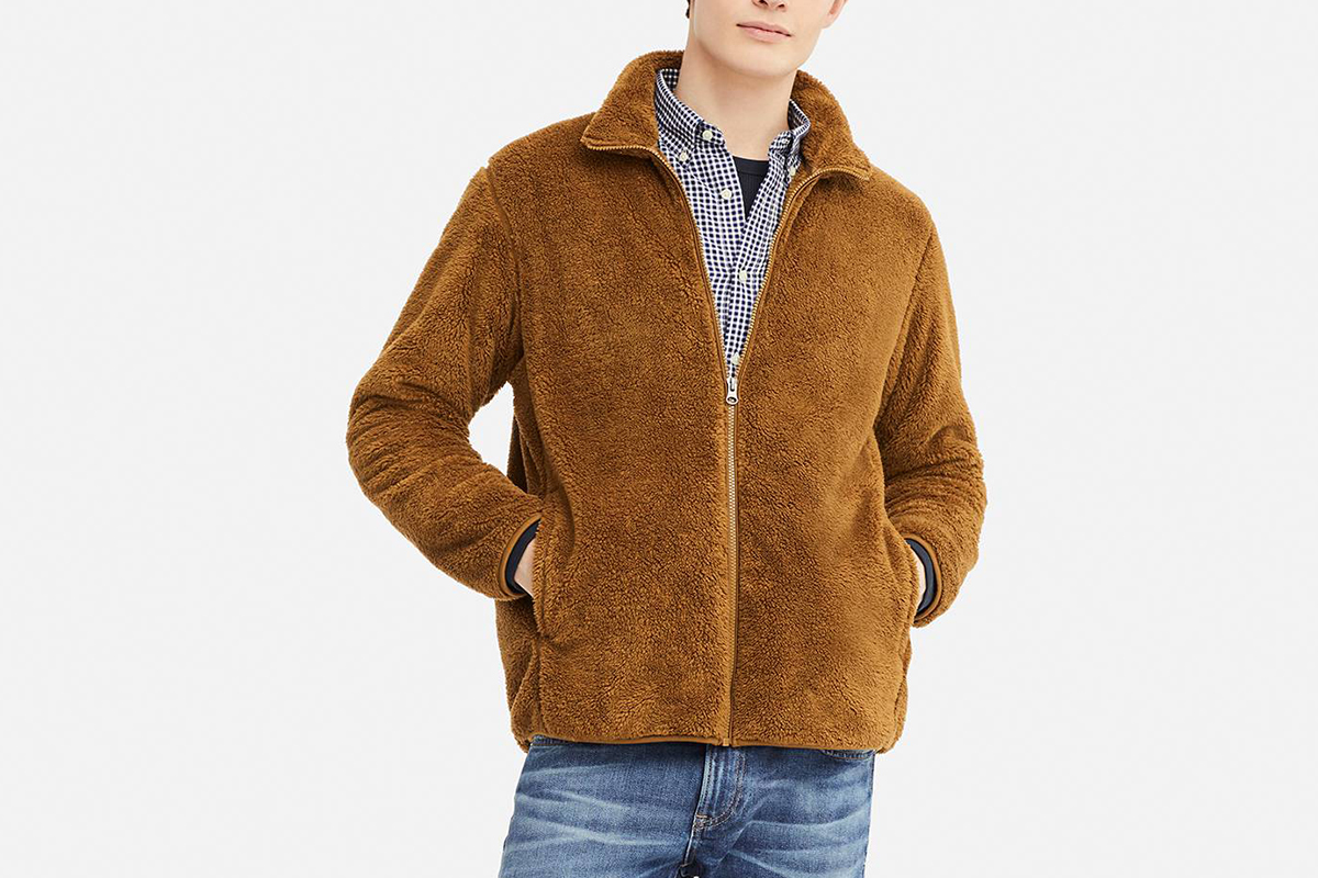 Fluffy Yarn Fleece Jacket