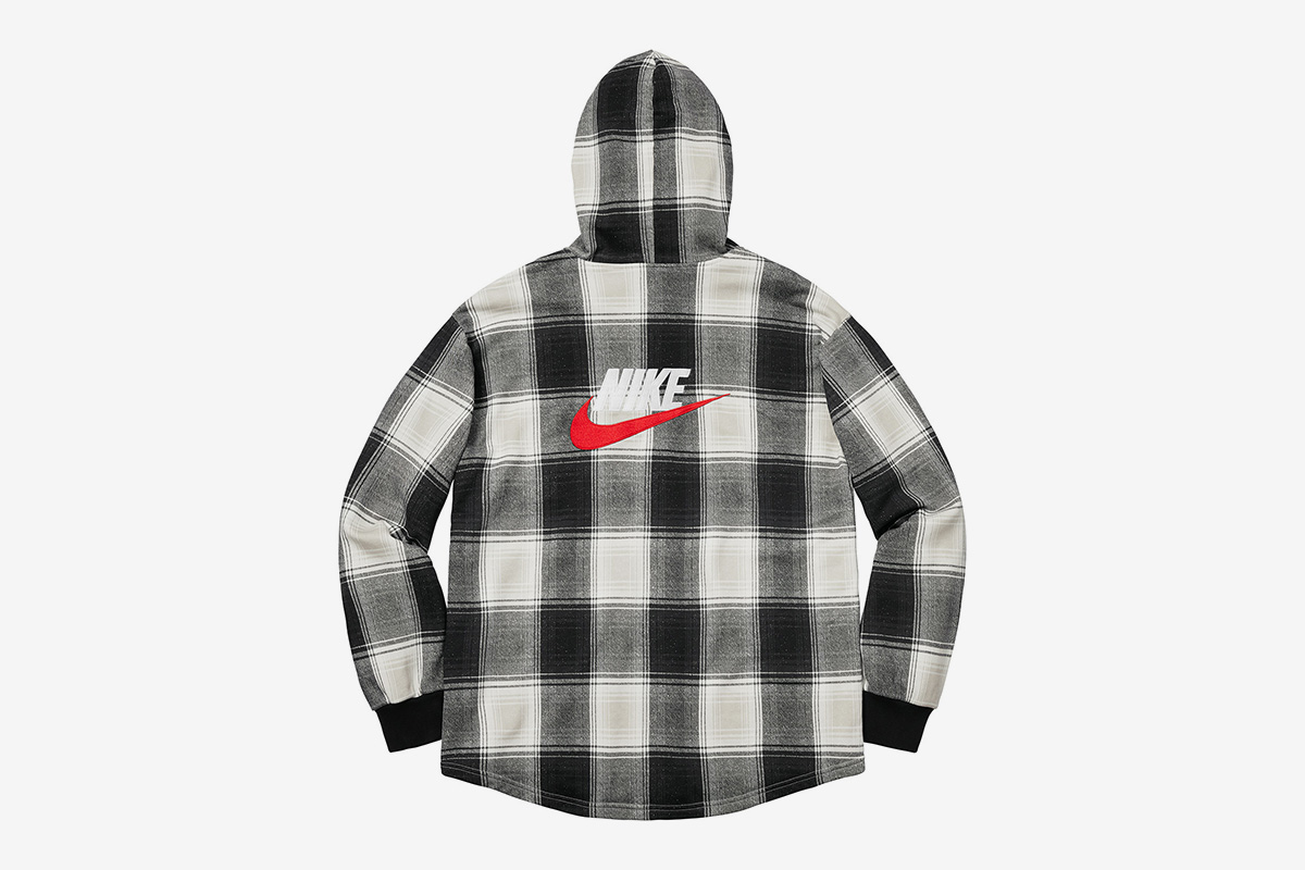 Plaid Hooded Sweatshirt