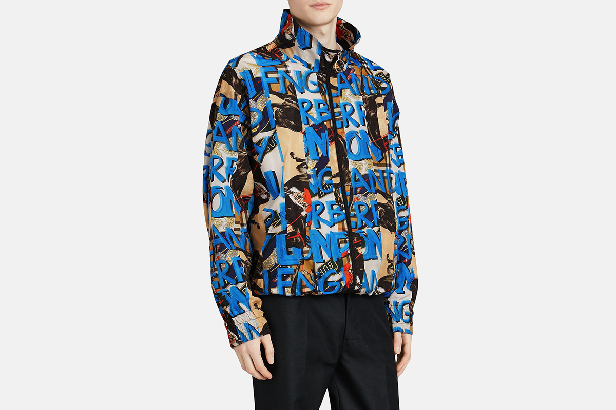 Graffiti Print Shell Jacket