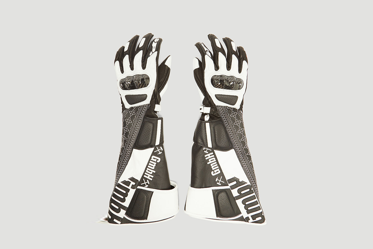 Akin Reclaimed Leather Biker Gloves