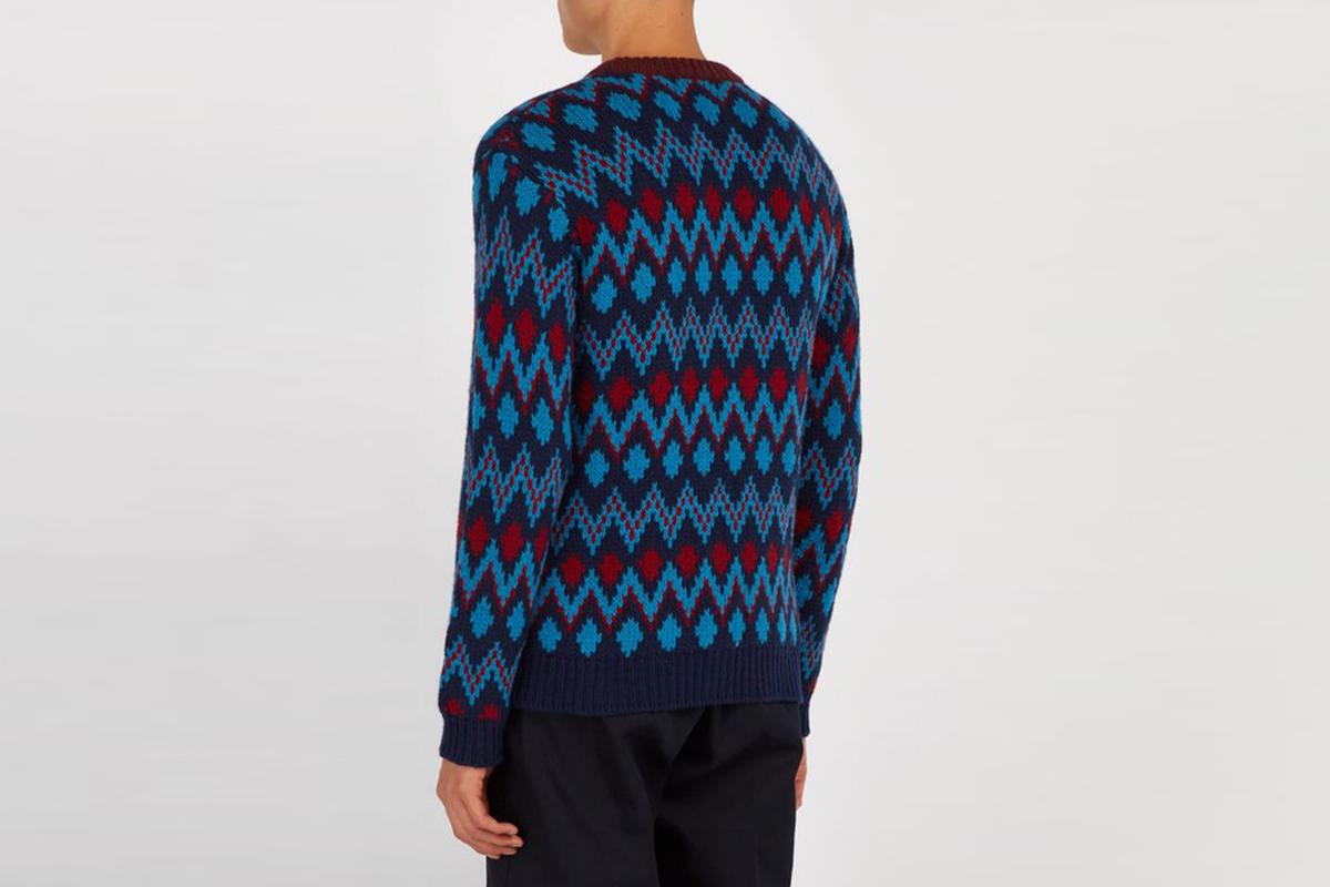 Chevron-Jacquard Sweater
