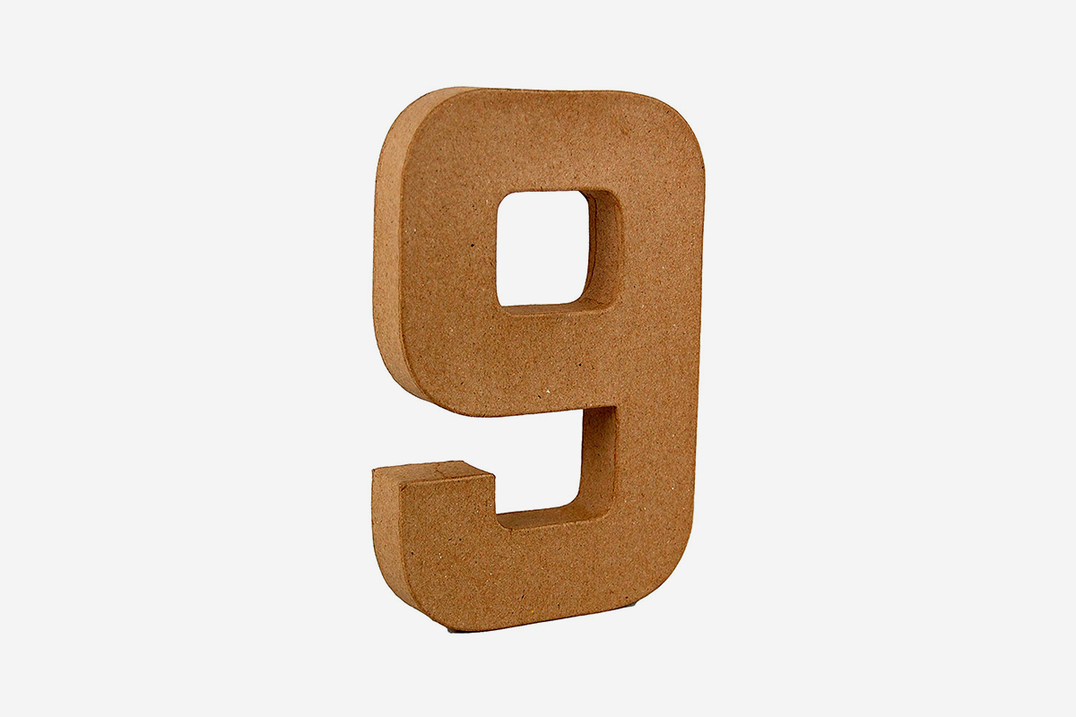 Papier Mache Number