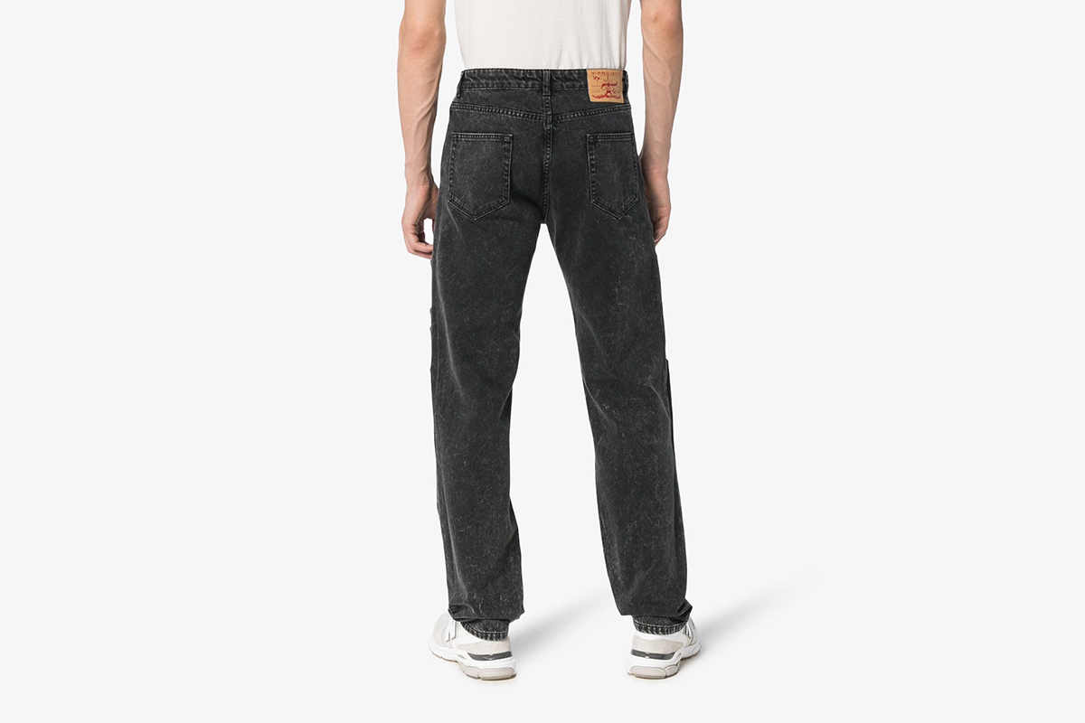 Layered denim Jeans