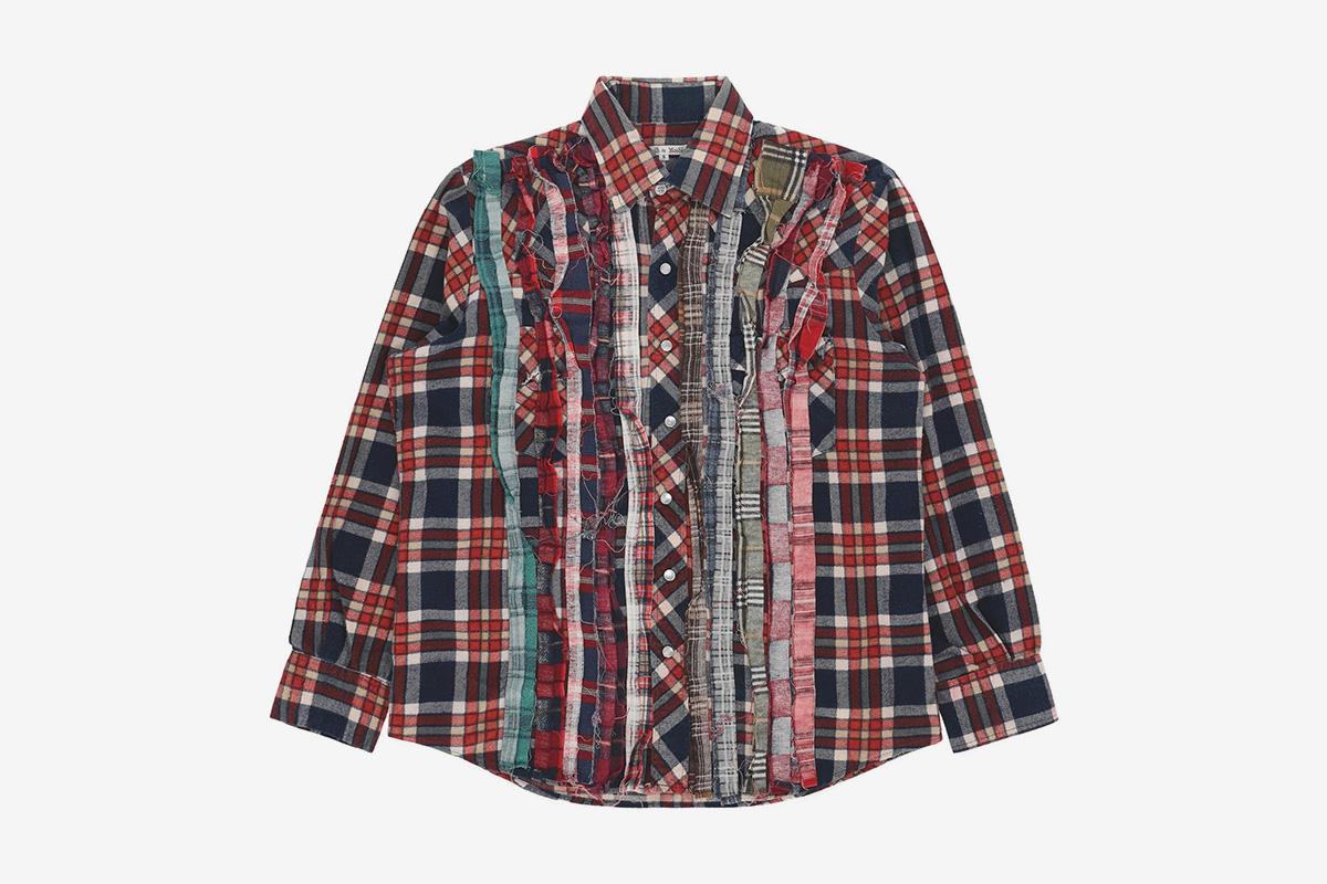 Ribbon Flannel Shirt