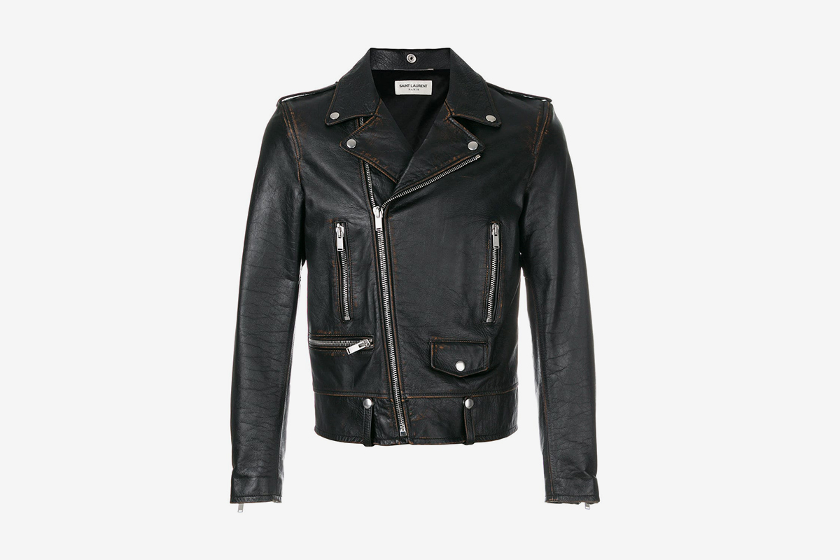 Short Zipped Biker Jacket