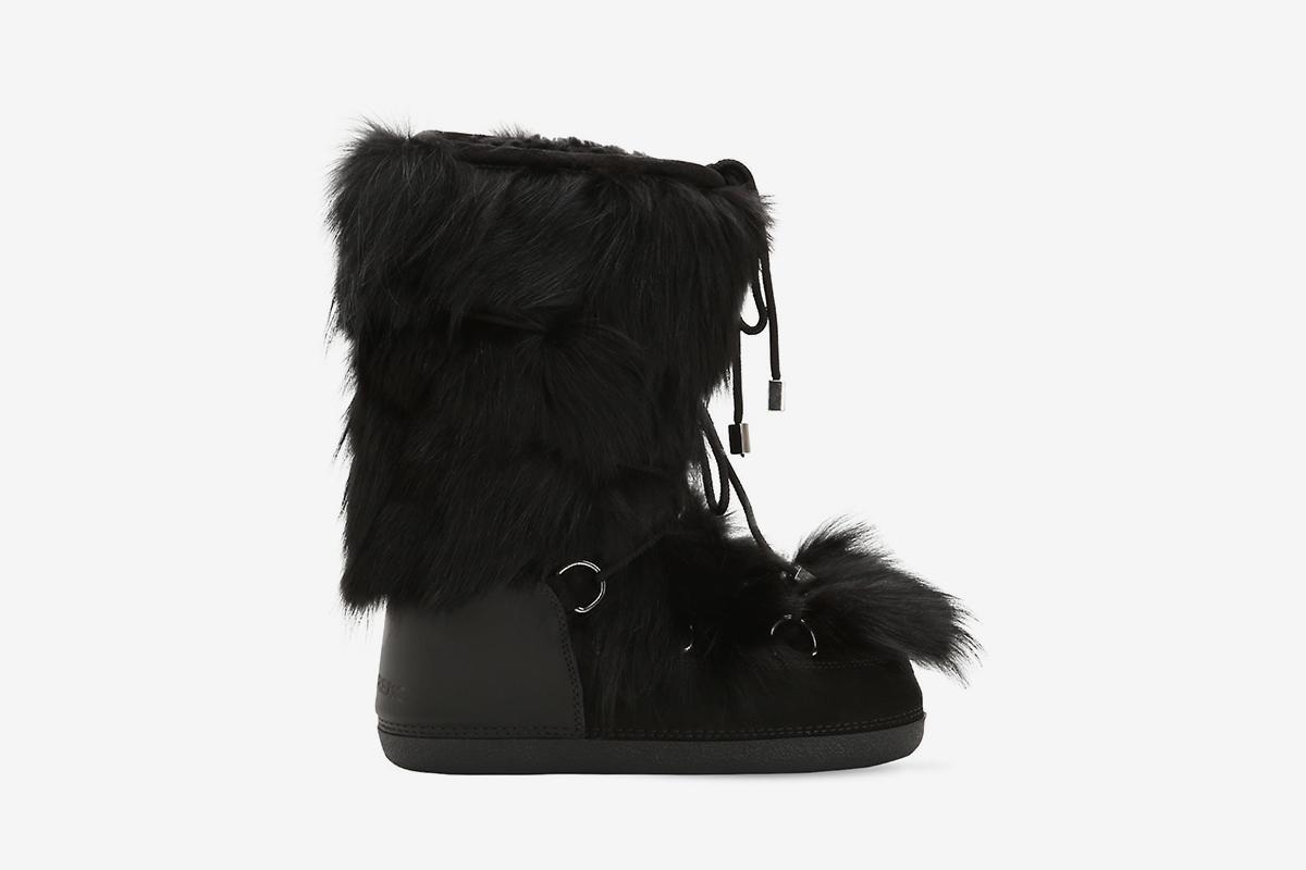 Fox Fur Snow Boots