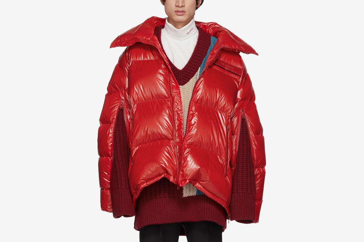 Calvin Klein 205W39NYC Red Down Oversized Jacket