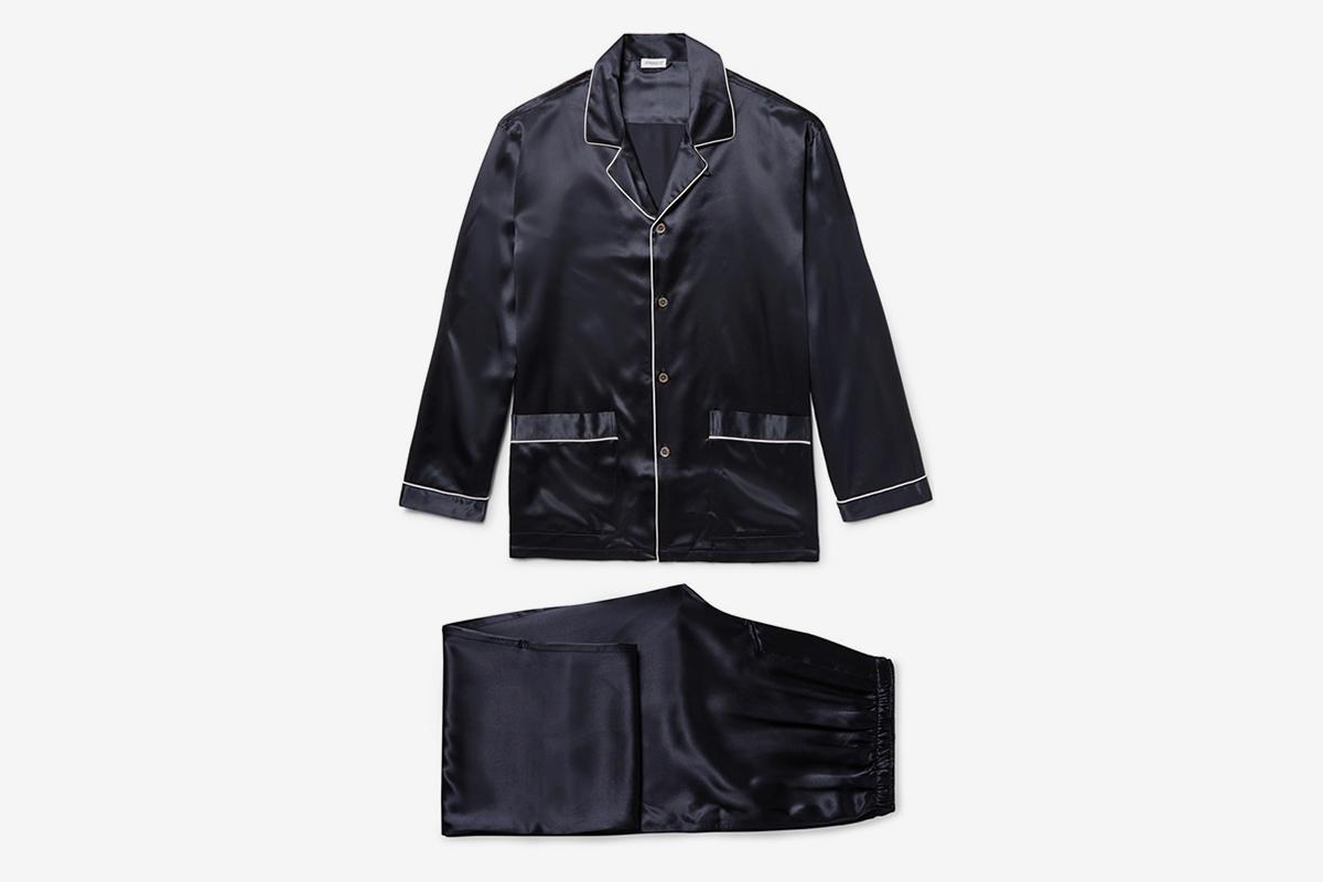 Silk-Satin Pyjama Set
