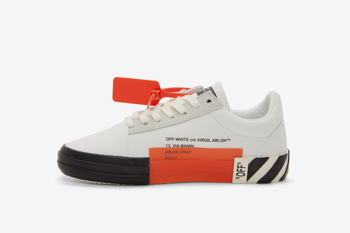 Striped Vulcanized Sneakers