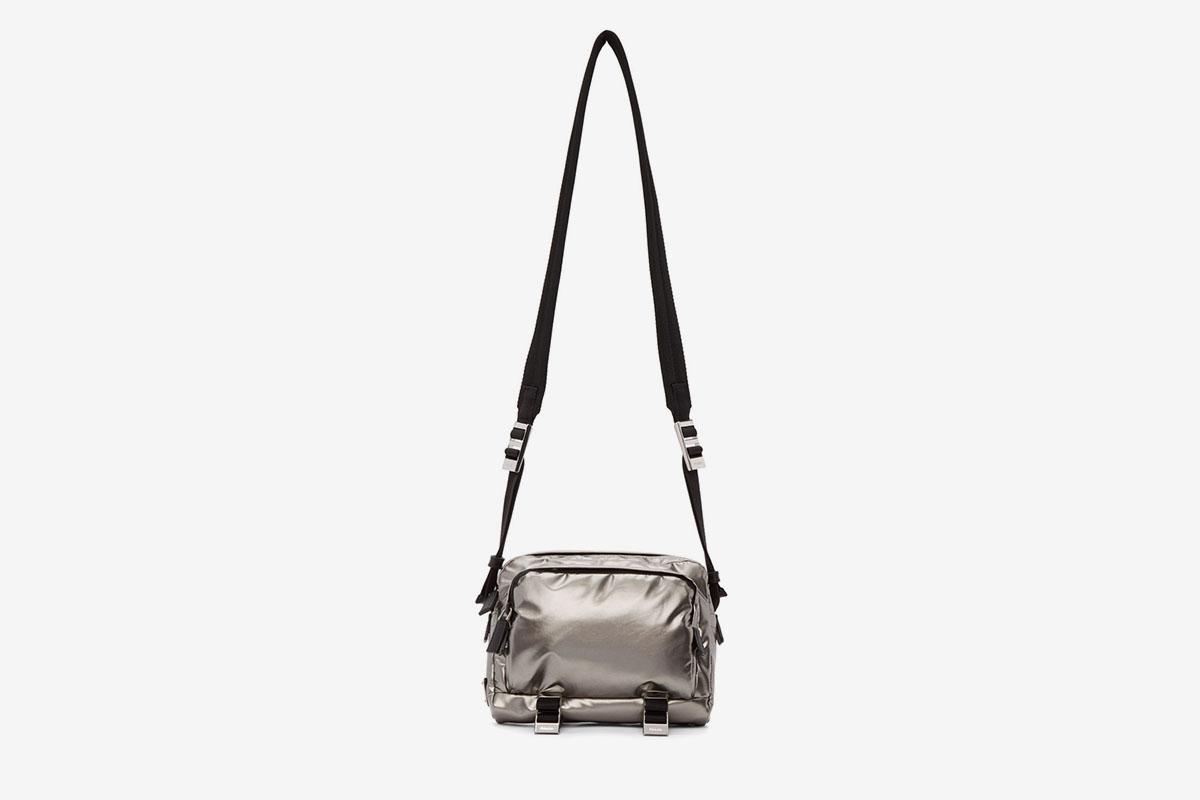 Metallic Messenger Bag