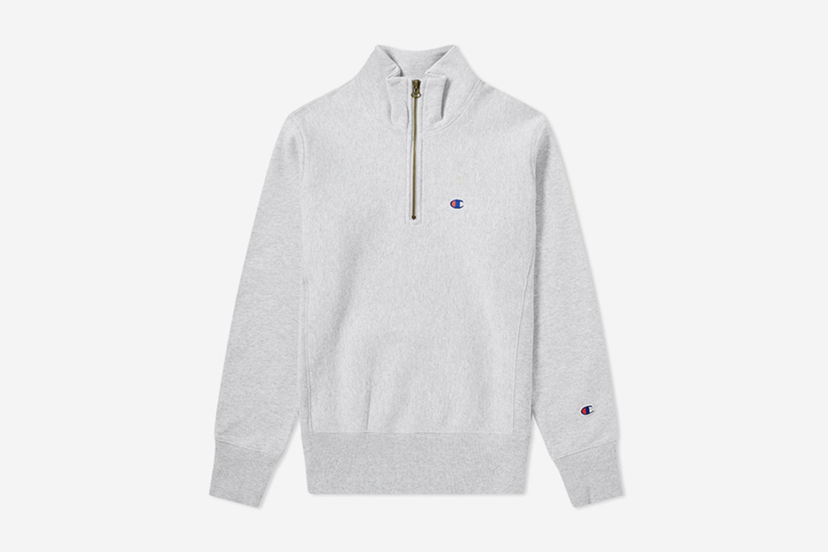 Quarter Zip Small Logo Sweat