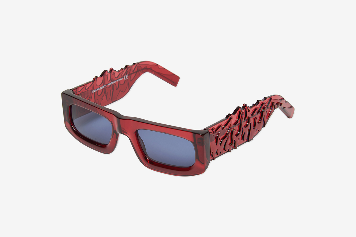 Drop1 Sunglasses Translucent Red
