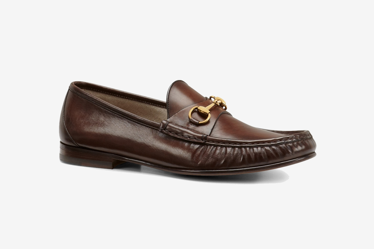 Brown Leather Horsebit Loafer