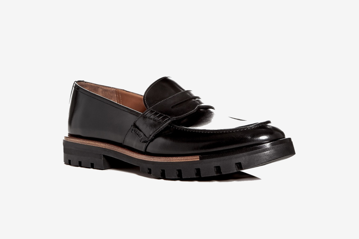 Barox Leather Apron-Toe Penny Loafer