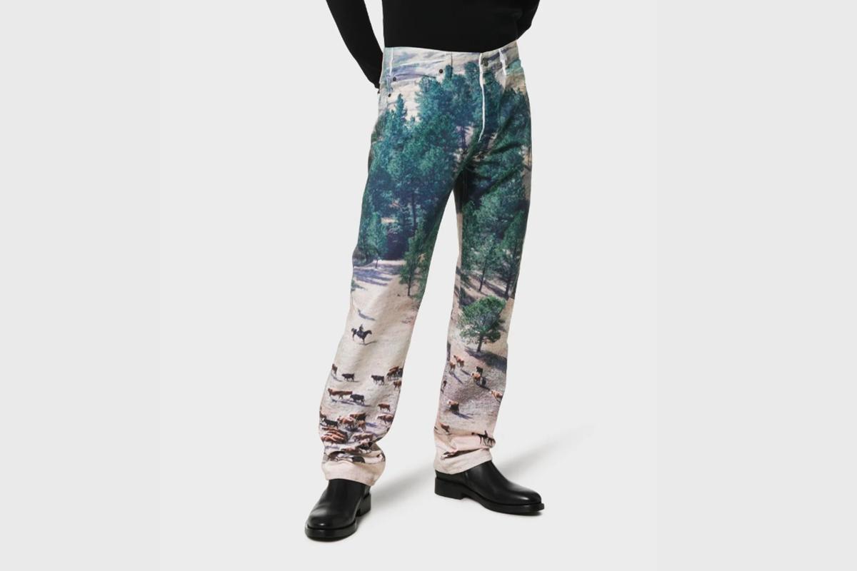 Landscape Scene Denim Jeans