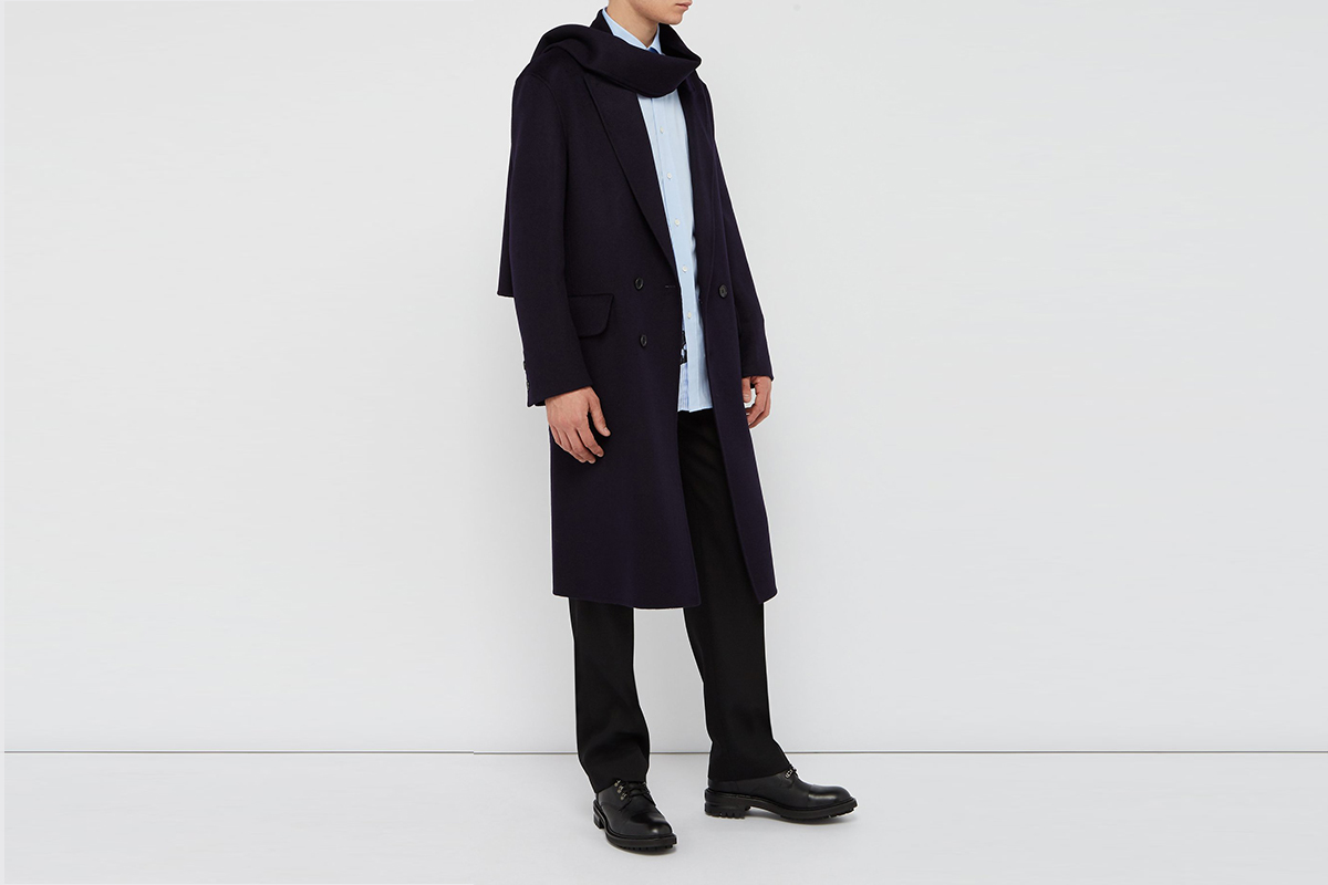 Double-breasted Scarf Coat
