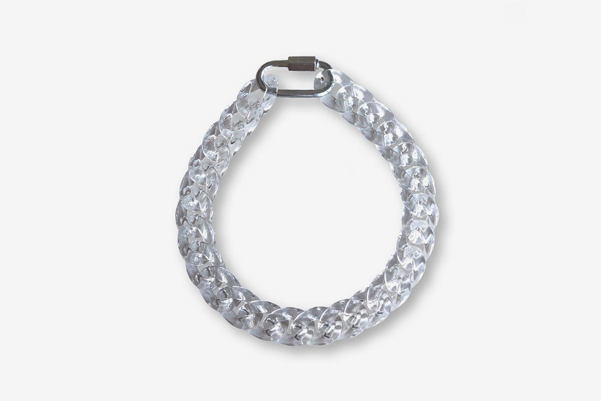#Adjustable Translucent Cuban Link Bracelet
