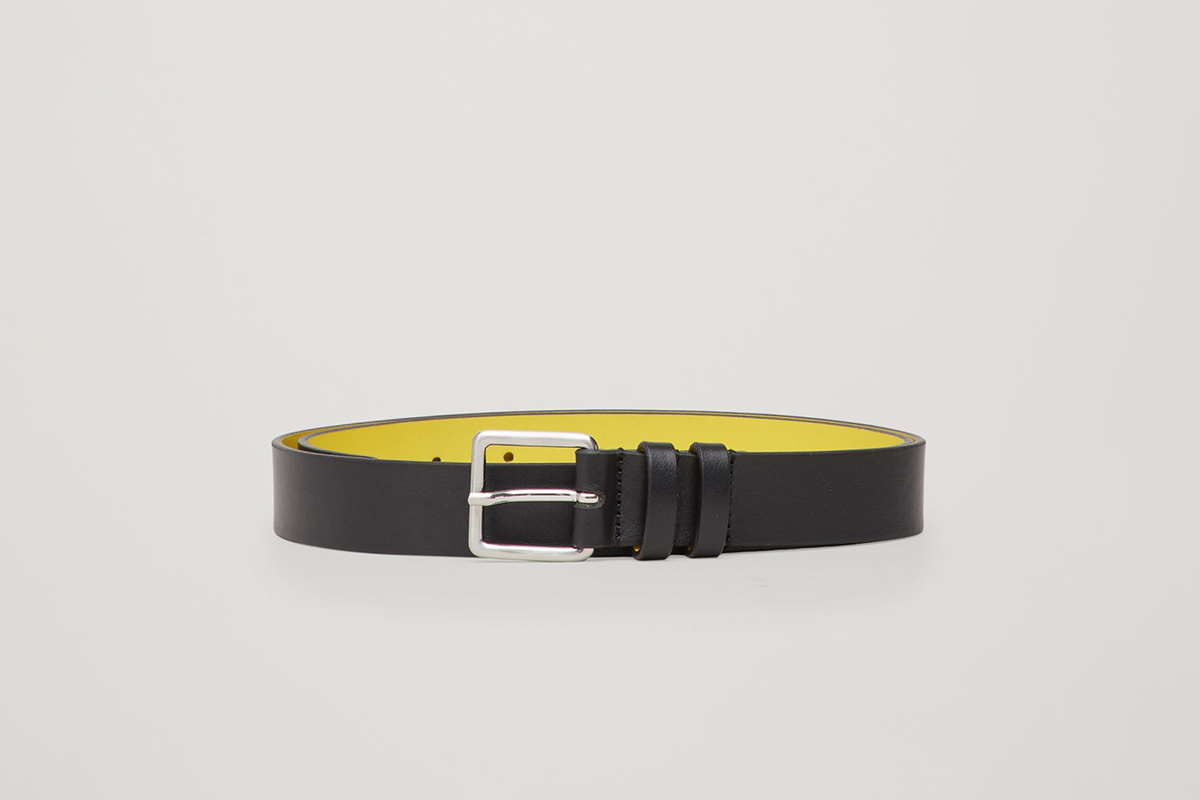 Contrast Leather Belt