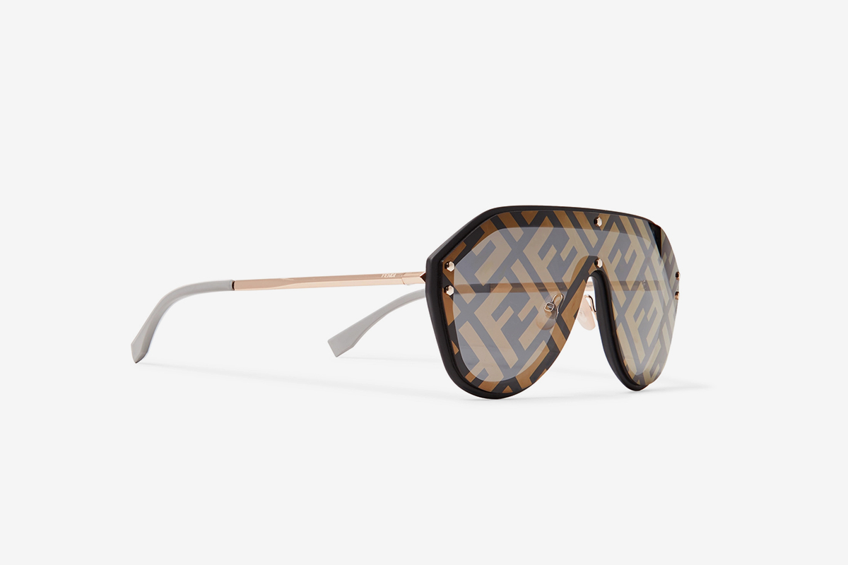 8d21fe67dd These Fendi All-Over Logo Sunglasses Will Have You Seeing Double