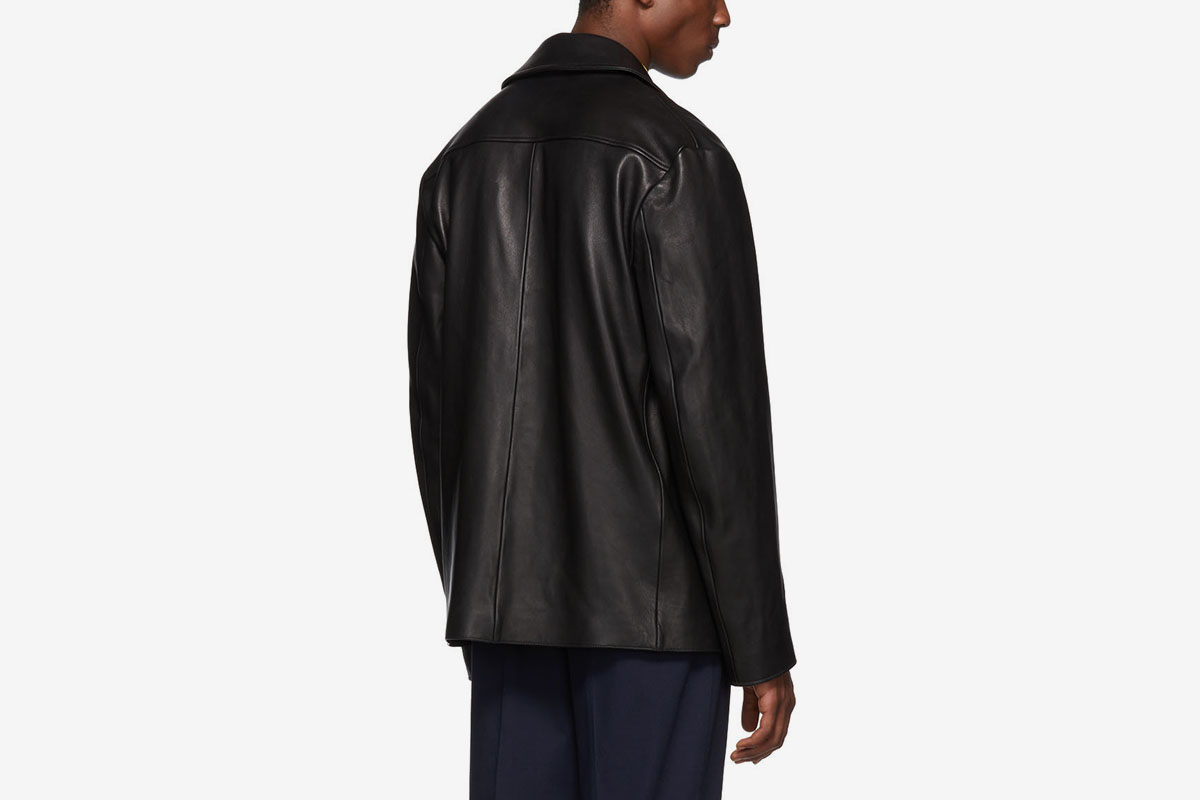 Black Leather Lance Jacket