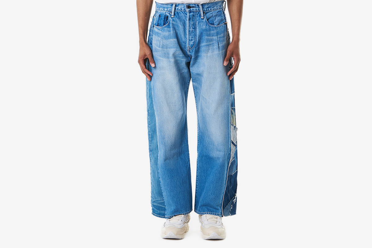 Loose-Fit Patchwork Jeans