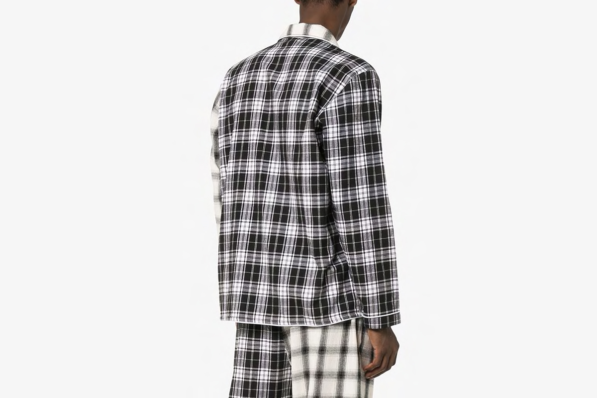 Check Print Pyjama Shirt