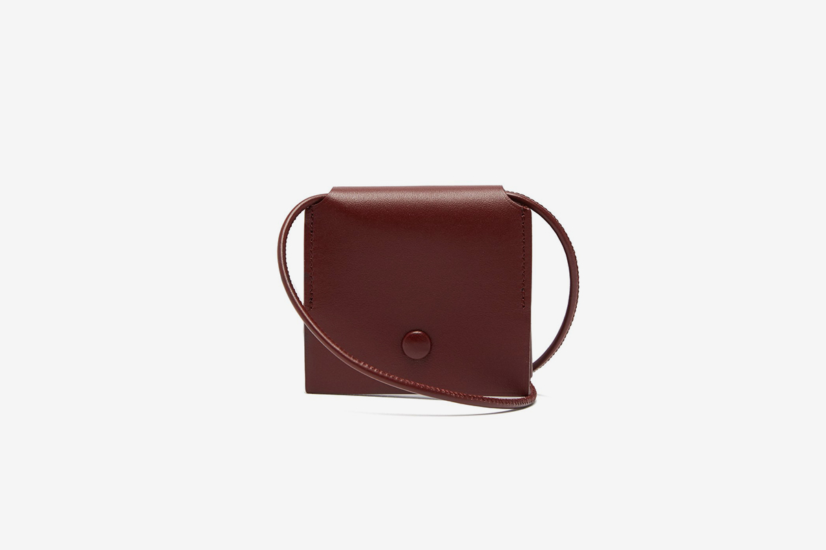 Square Leather Neck Pouch