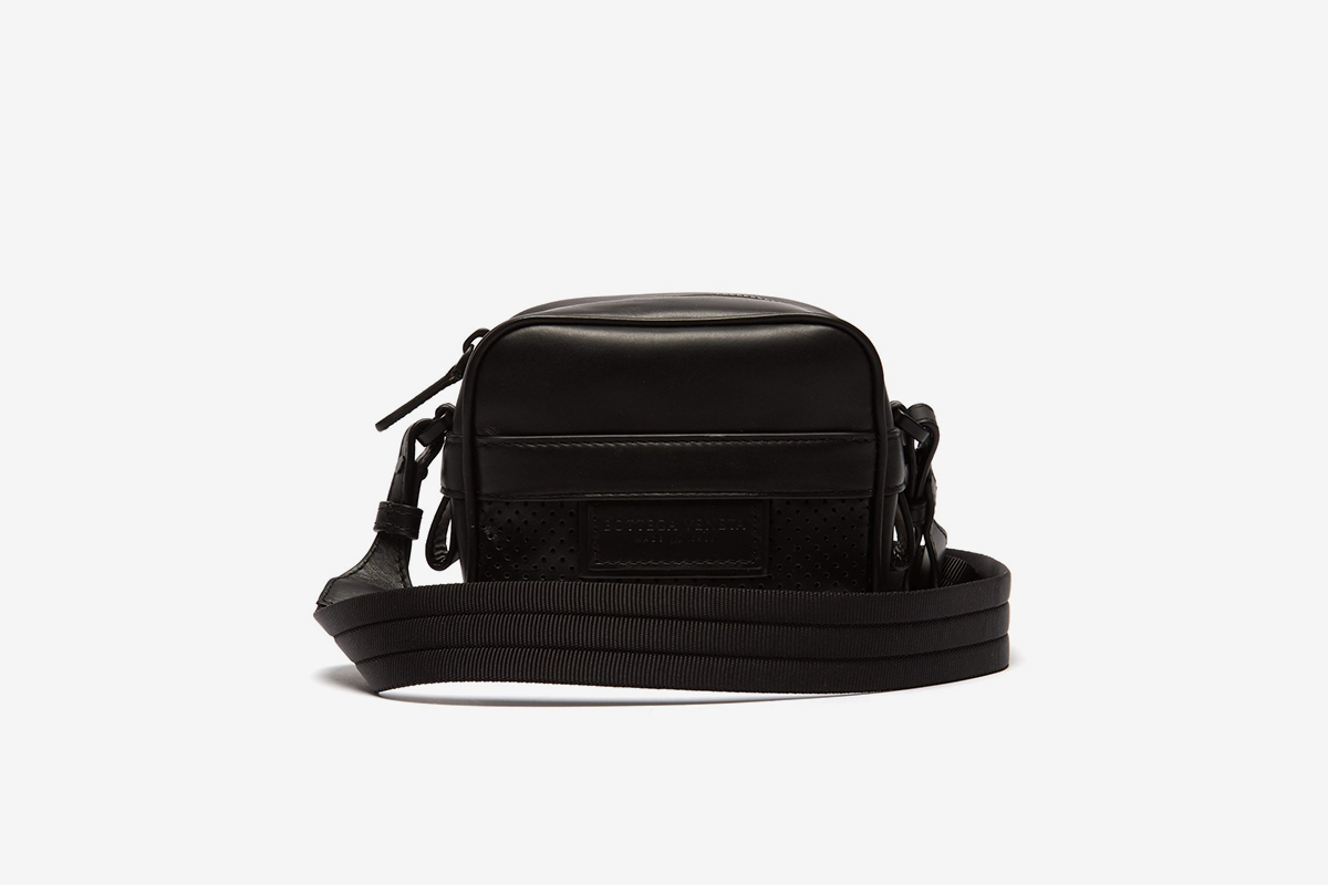 Perforated Leather Cross-Body Bag
