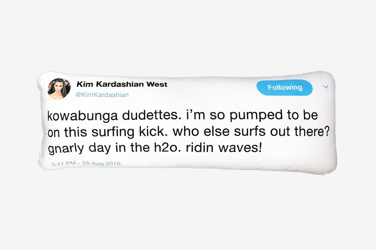 Kim Kardashian Tweet Pillow