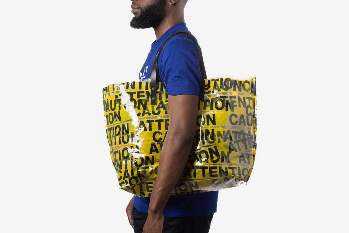 Caution and Attention Tote - Gusset