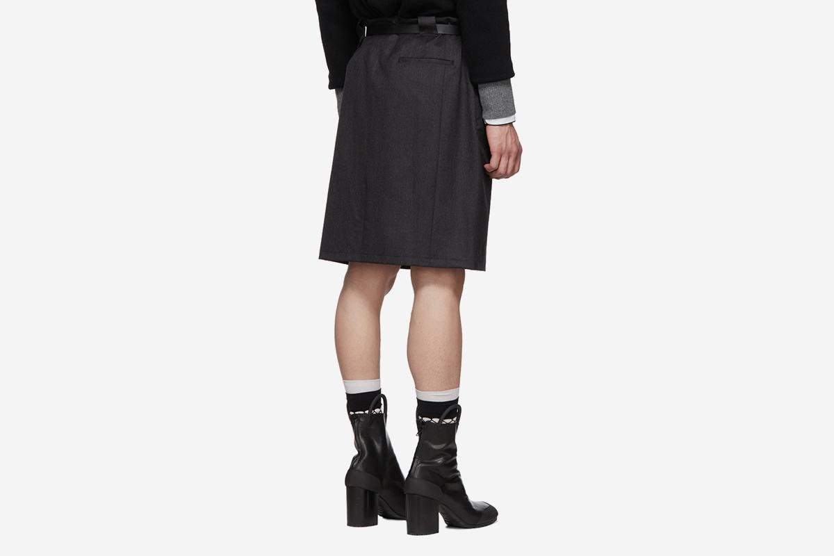 Wool Twill Skirt