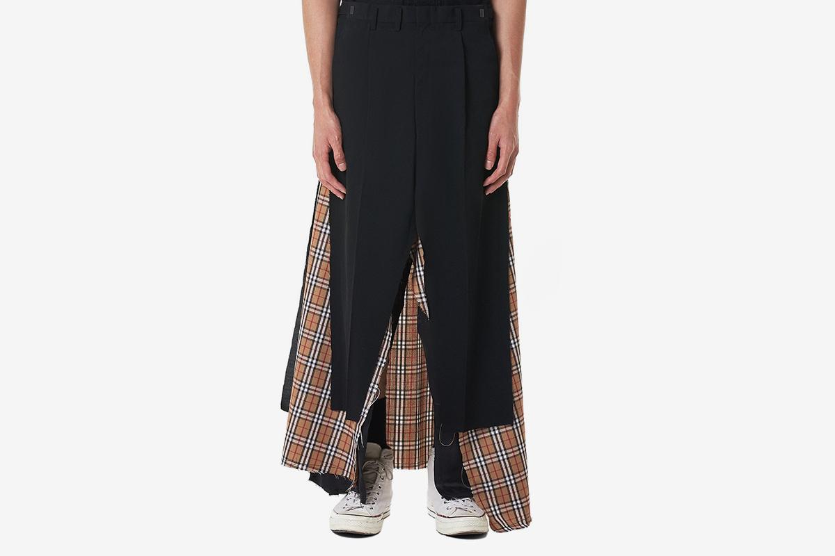 Layered Checked Skirt