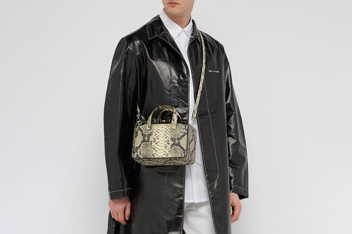 Brie Snakeskin-Effect Cross-Body Bag