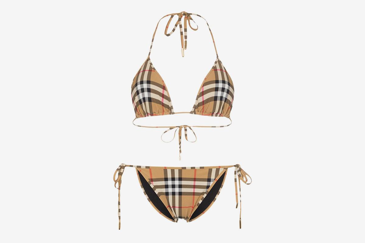 Chime Сlassic Сheck Triangle Top Bikini