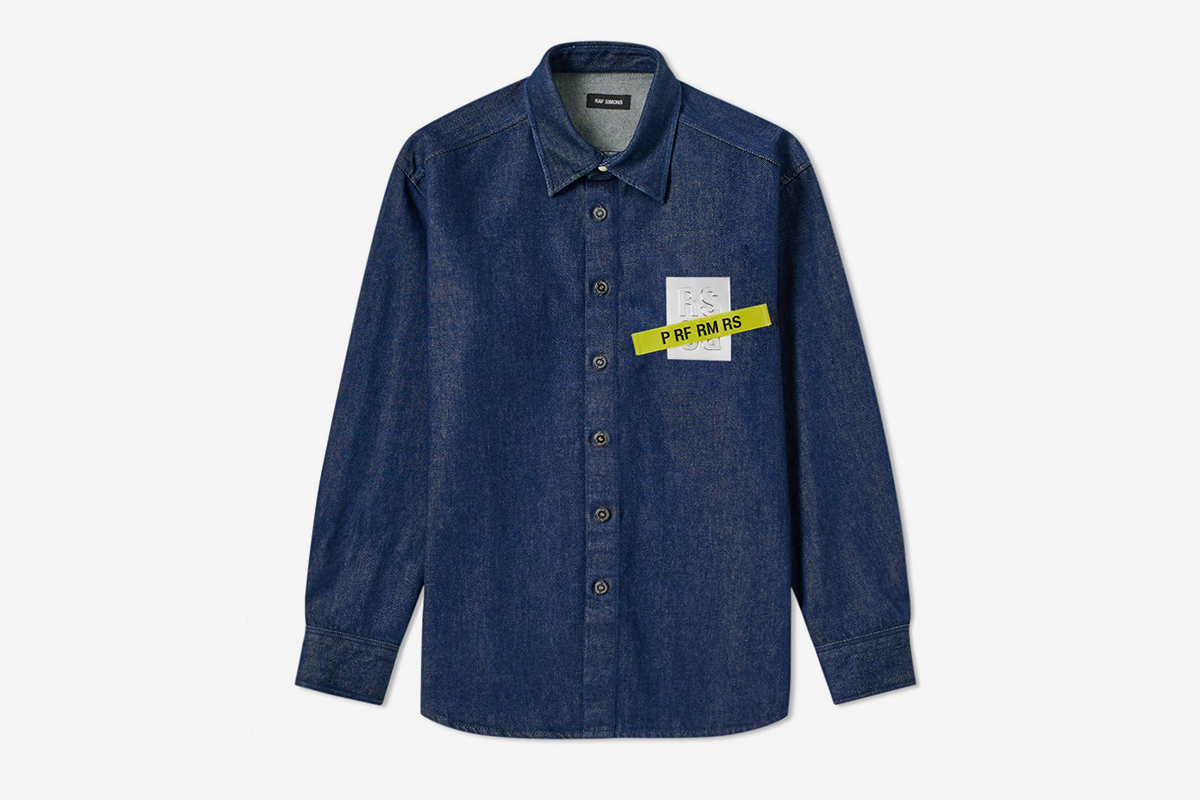Tape and Patch Denim Shirt