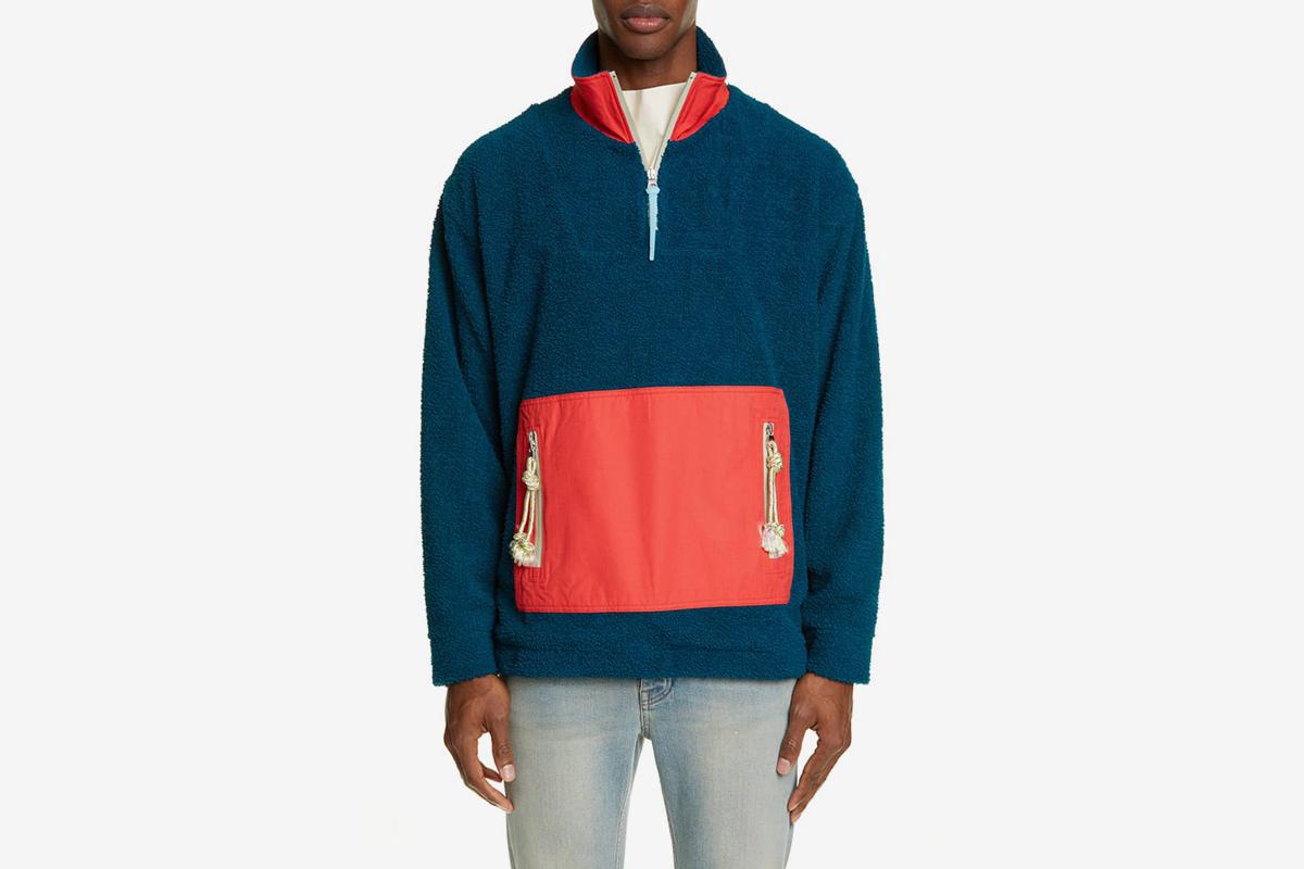 Faraz Colorblock Fleece Pullover