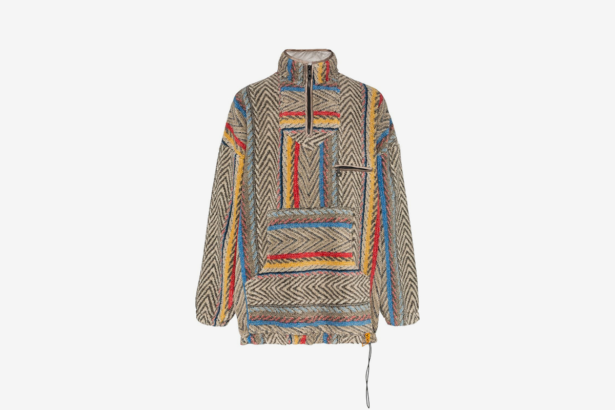 Geometric Striped Fleece