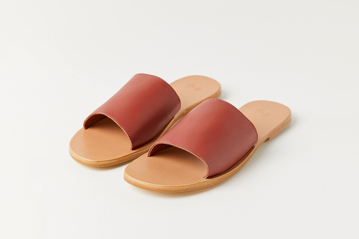 Soft Leather Slide Sandal