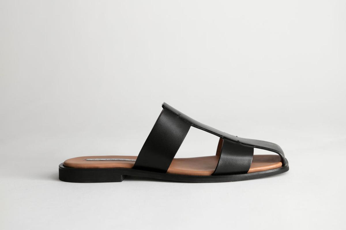 Leather Gladiator Slip Ons