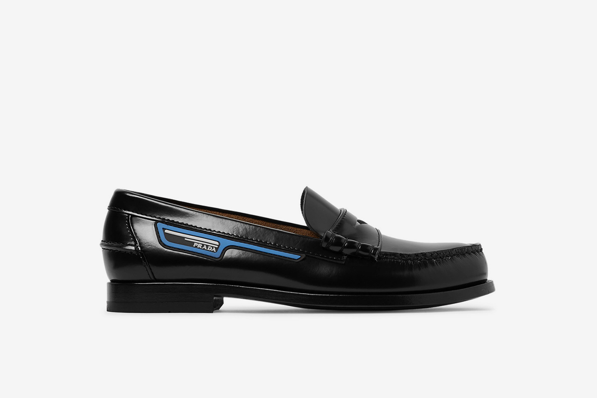 Logo-Appliquéd Spazzolato Leather Penny Loafers